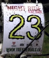 Night ride ar Trek veikalu